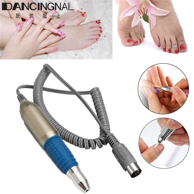 Professional 25000RPM Nail Drill Handle Handpiece Pen For Electric Drills Manicure Pedicure Machine File Parts Accessories mayitr25000rpm electric nail handpiece silver blue drill machine handle handpiece pen stainless steel manicure pedicure tool
