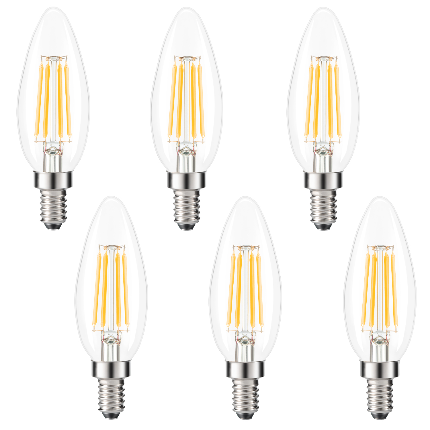 kohree edison candelabra bulb e12 led bulb b10 candle light bulb 40w equivalent 2700k warm white