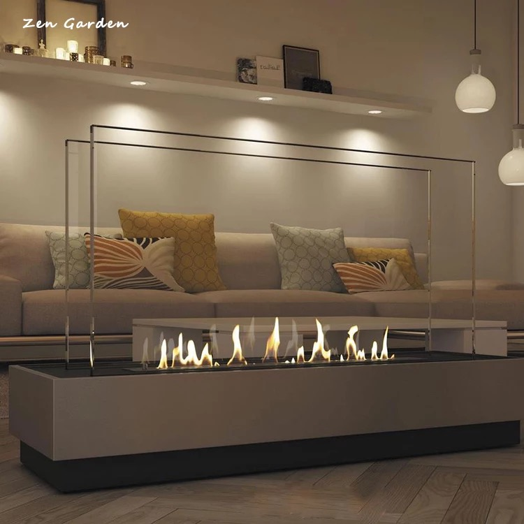 on sale 48 inch stainless steel/black ethanol fireplace burners цены онлайн