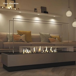 on sale 48 inch stainless steel/black ethanol fireplace burners