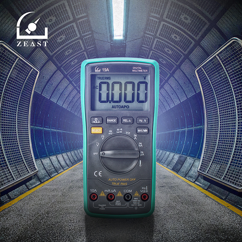 ZEAST 6000 Counts Multimeter Digital Professional Voltmeter Ammeter Tester AC DC Ohm Temperature True RMS Backlight Range HY-19A