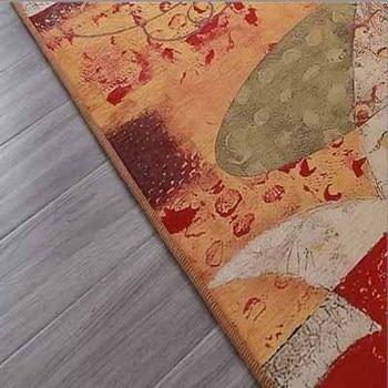 Patterned Area Rugs | Else Purple Yellow Red Orange Ropes Decor 3d Pattern Print Non Slip Microfiber Living Room Modern Oval Washable Area Rug Carpet