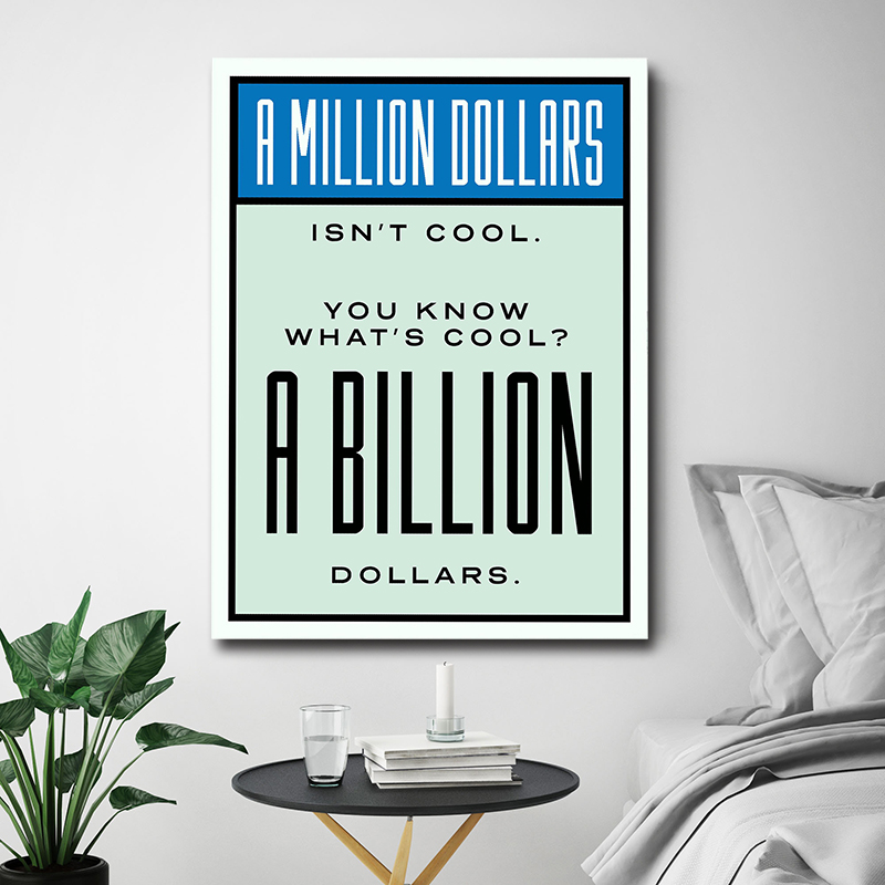 HD Print Alec Monopoly Oil Painting Home Decor Art on Canvas A Billion Dollars