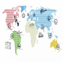 Simple world map background wall professional production mural factory wholesale wallpaper mural poster photo wall romantic mediterranean style background wall professional production mural wholesale wallpaper mural poster photo wall