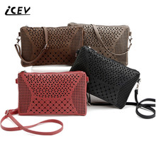 ICEV new fashion hollow out bags handbags women famous brands crossbody bags for women messenger bags shoulder bags wholesale