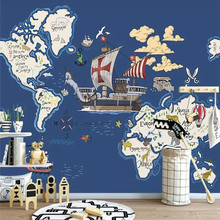 Hand-painted cartoon background wall professional production mural factory wholesale wallpaper poster photo