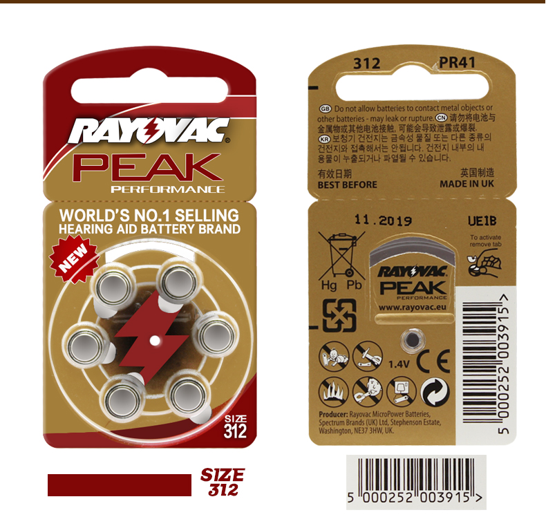 Image 4 - 60pcs =10 card Zinc Air Hearing Aid Batteries A312 312A ZA312 312 PR41U-in Ear Care from Beauty & Health