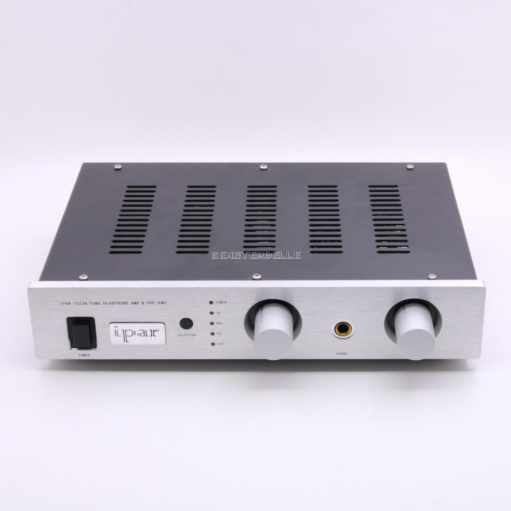 Finished 1023A Tube Headphone Amplifier & Preamplifier HiFi Vacuum Tube Pre-Amp 1pcs high quality little bear p5 stereo vacuum tube preamplifier audio hifi buffer pre amp diy new