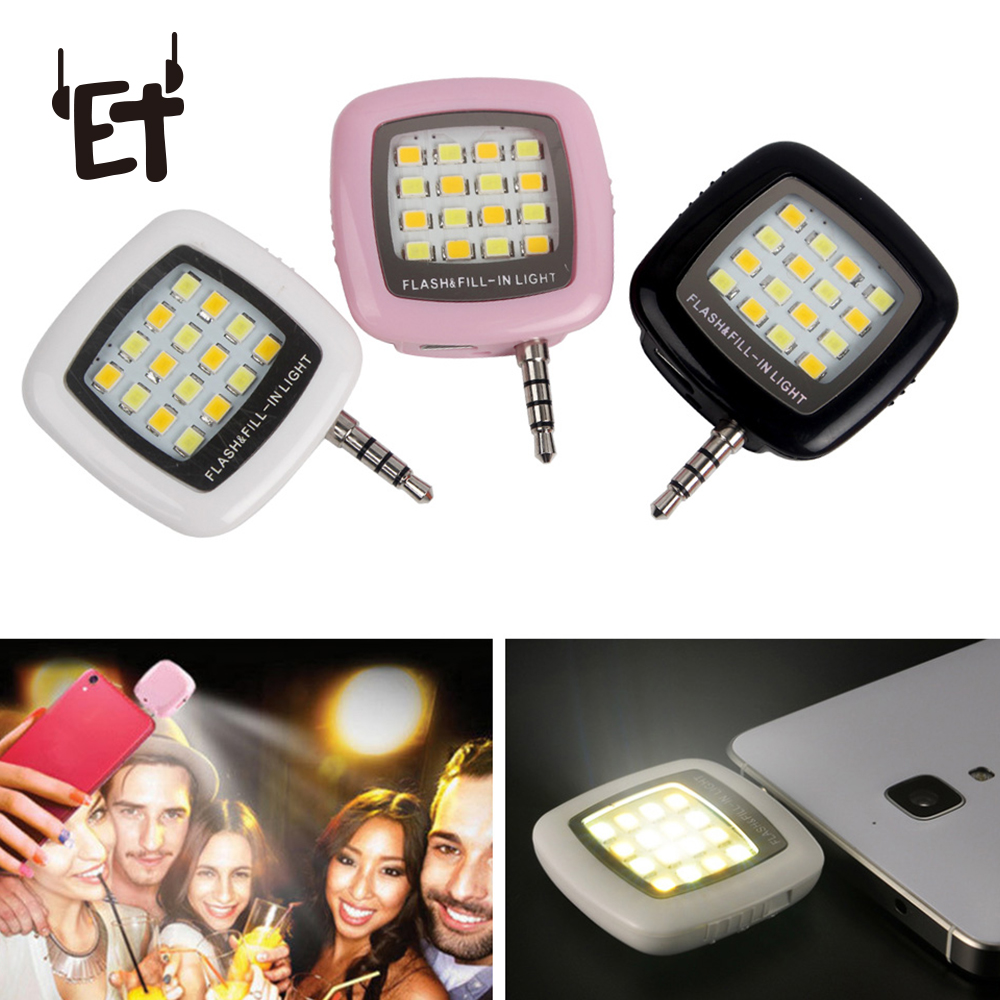 Mobile Phone Adapters Mobile Phone Accessories Phone Flash Portable Phone Selfie Mini 16 Led Flash Fill Light For Smartphone Cell Phone Adapter Accessories Making Things Convenient For Customers