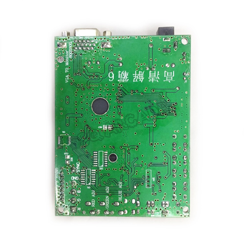 10pcs lot CGA to VGA HD Video Converter Board 1 VGA Single Output for CRT LCD