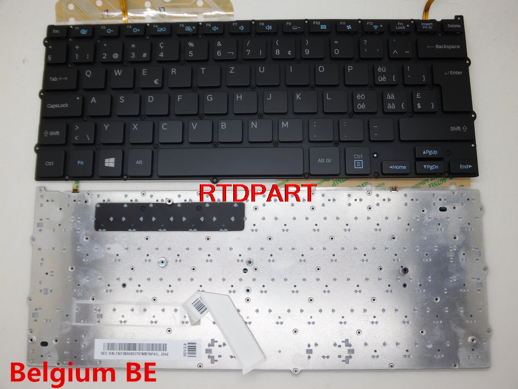Laptop Keyboard For SAMSUNG NP940X3G NP940X3F Backlit Belgium BE Canada CA Nordic NE Portugal PO Swiss SW BA59-03767G laptop keyboard for acer silver without frame swiss g sw v 121646ck2 sw aezqss00110