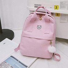996f43b31e9e WENYUJH женский рюкзак для школы подростков девочек Kawaii сумка 2018  Bookbag холст рюкзак женский рюкзак с