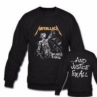 Metallica Und Gerechtigkeit Für Alle Hoodies Männer Neue Mode Heavy Metal Rock Band Schwarz Hoodie Sweatshirts harajuku pullover