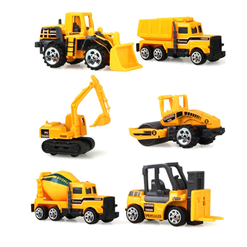 Mini Digger Excavator Childrens Educational Toys Model Classic Toy Mini Gift For Boy - Photo Color