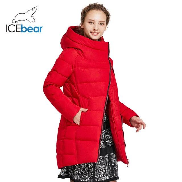 ICEbear 2017 Хит модное зимнее женское высококачественное фирменное пальто плотный тёплый пуховик 16G607D