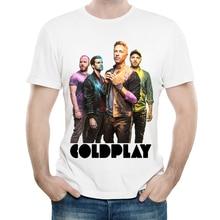 Coldplay T-Shirt White Color Mens Fashion Short Sleeve Logo Print T Shirt Tops Tees tshirt Cool Male Rock Style Clothes