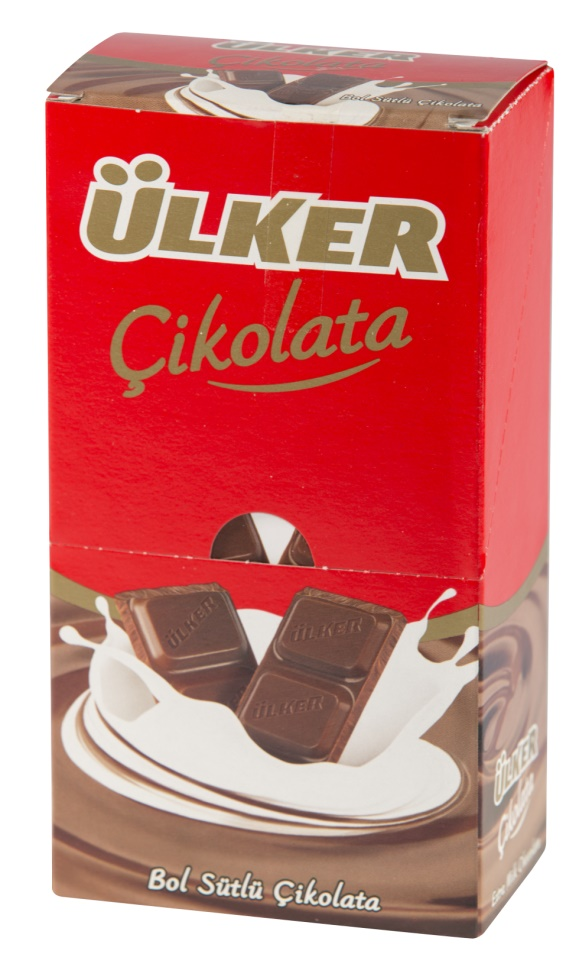 Ulker Chocolate Milk Tablet 80 Gr (6 Pieces) 6 Different Flavours From TURKIYE