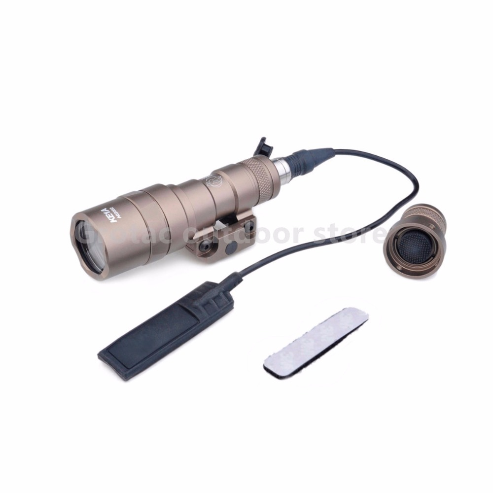 Element SF M300B Scout Tactical Weapon Flashlight Aluminum New Version 250 lm Output LED EX358 waterproof and shockproof wargame