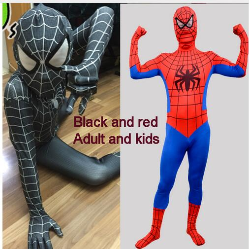 Amazing Spider Man Costume Adult Kids Spandex Adulto 3D Spiderman Costumes Suit Cosplay Clothes Fantasia Halloween Costumes