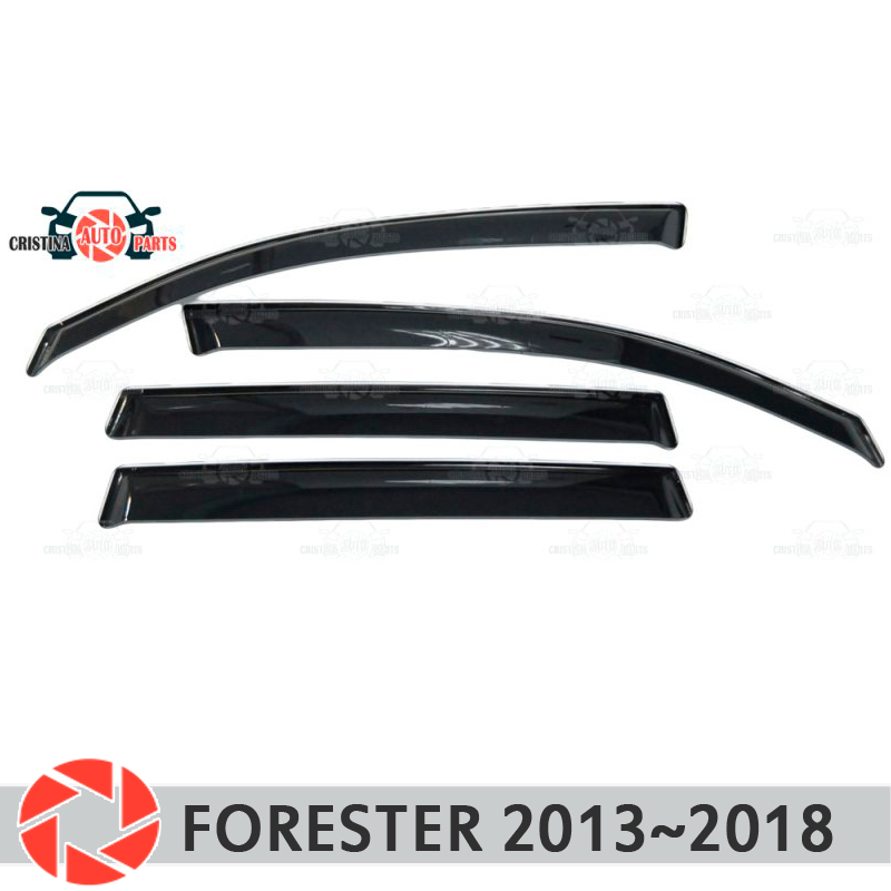Window deflector for Subaru Forester 2013~2018 rain deflector dirt protection car styling decoration accessories molding huier hand sew car steering wheel cover black leather for subaru forester 2013 2015 legacy 2013 2014 outback 2013 2014 xv 2013