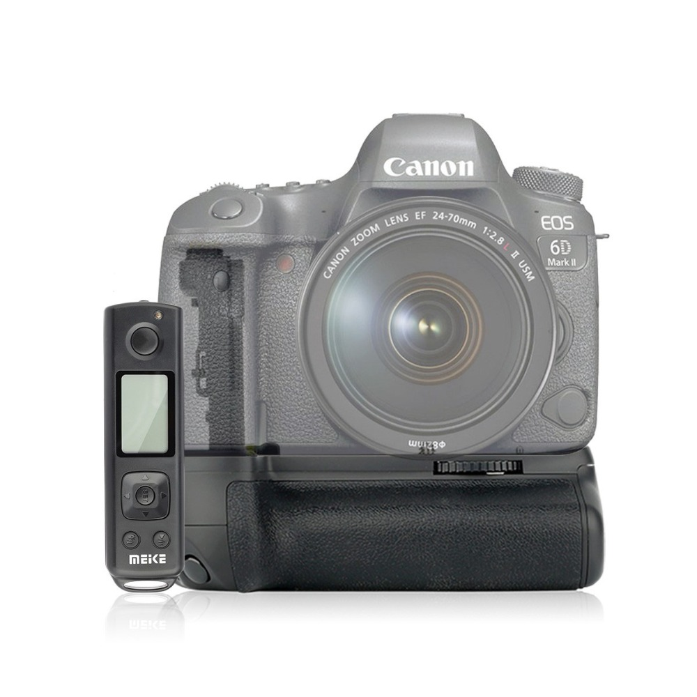 Meike MK-6DII Pro Battery Grip Built-in 2.4G Remote Control For Canon 6D Mark II As BG-E21