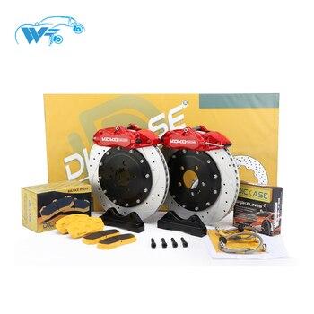 KOKO RACING WT9200 cars brake kit car red color 4 pot brake caliper drilled disc 330*28mm disc brake pads for Honda S2000
