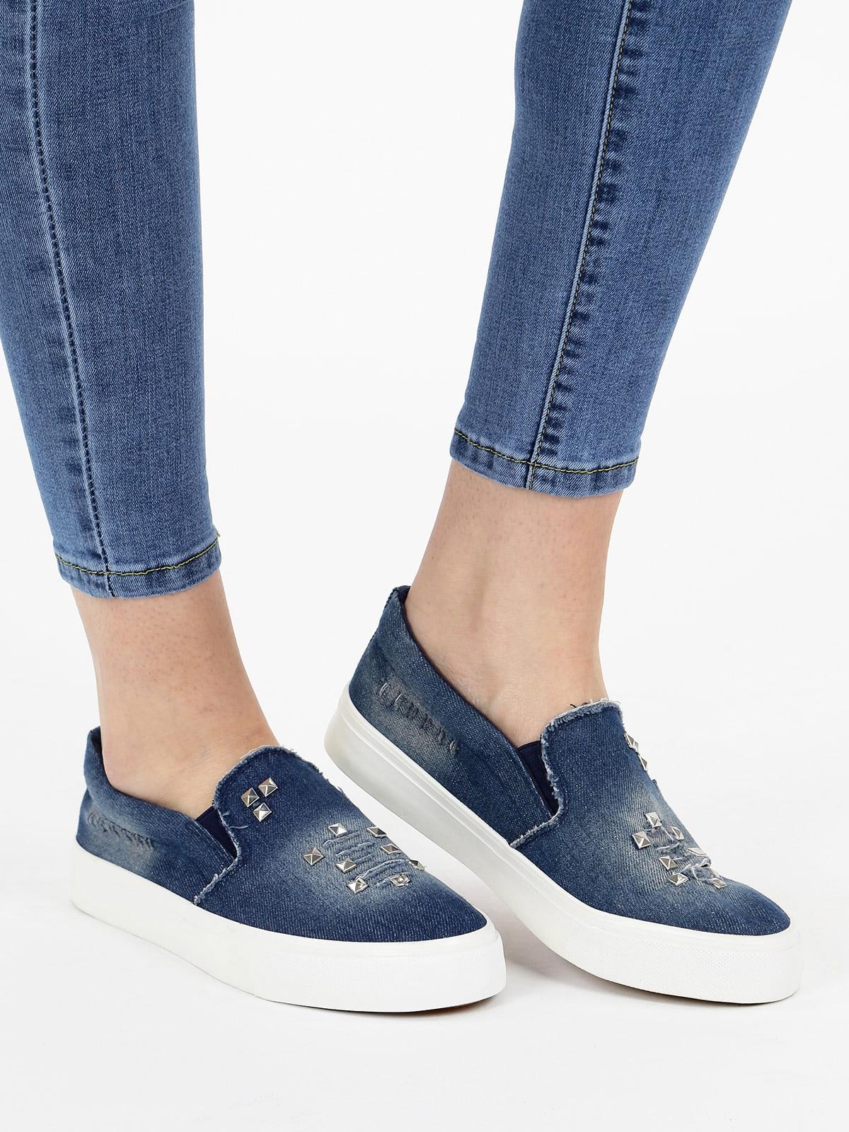 Woman Jean Blue Casual Skateboard Shoes Sport Shoes