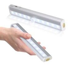 IR Infrared Motion Sensor Night Light 10 LEDs Wireless LED Closet Lights 4* AAA Battery Wardrobe Lights Corridor kids room lamp все цены