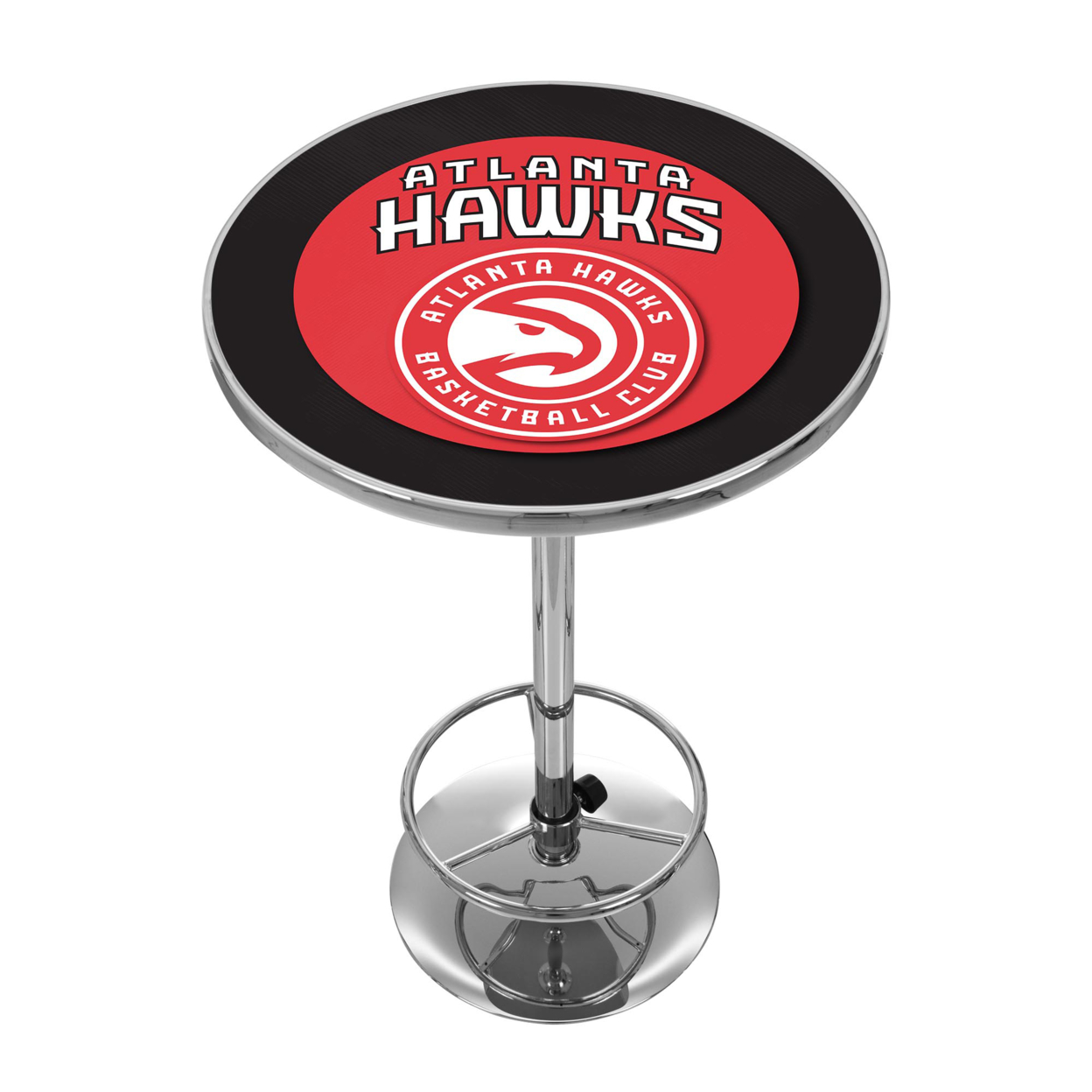 Atlanta Hawks NBA Chrome 42 Inch Pub Table