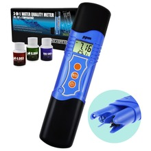 3-in-1 pH / TDS / Temperature Meter Combo Water Quality Tester ATC 0.00~14.00pH 0~1999mg/L(ppm) Laboratories, Hydroponics