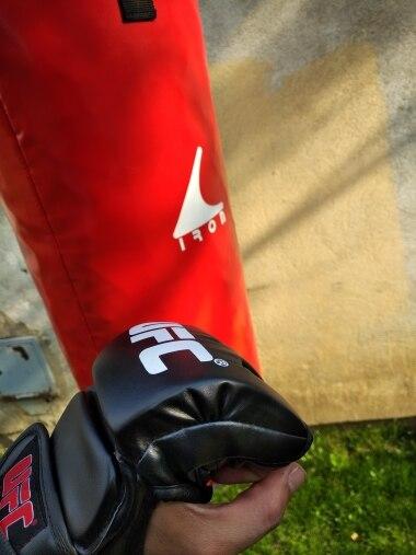 SUOTF Black Fighting MMA Boxing Sports Leather Gloves Tiger Muay Thai fight box mma gloves boxing sanda boxing glove pads mma