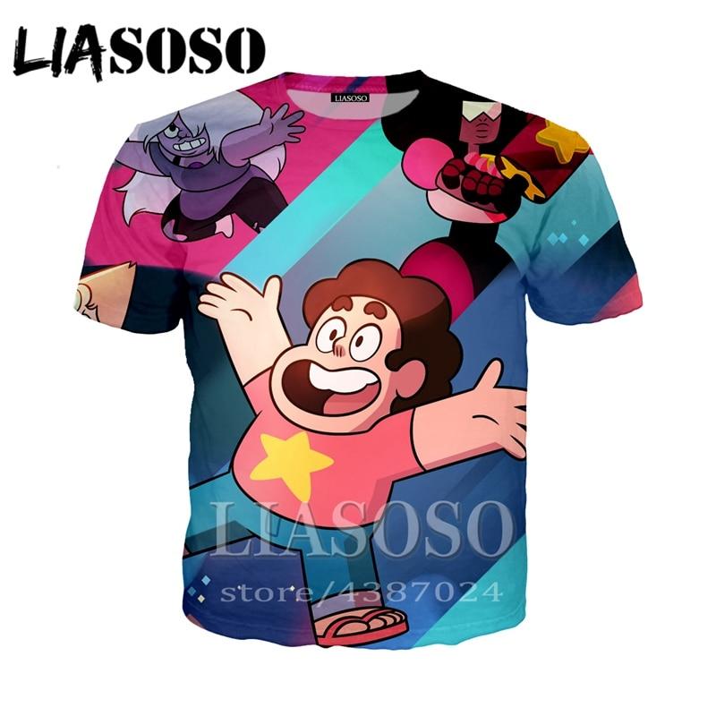 Men Women Cartoon Cartoon 3D Print Tee Tops T-Shirt Casual Short Sleeve