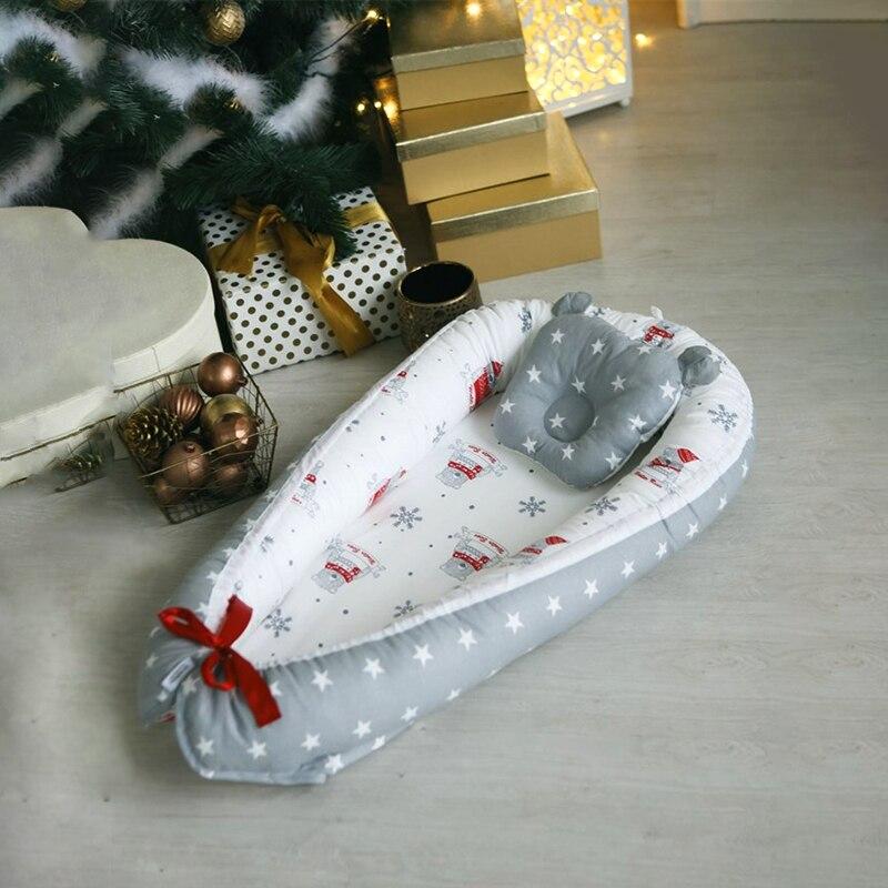 Nido de bebé para recién nacidos cama cuna para bebés cuna Cocoon para mujeres embarazadas algodón