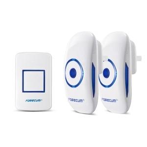 Image 2 - Forecum 8f Wireless Doorbell Waterproof Door Bell Kit, 1000 Feet Operating, 36 Chimes,  1 transmitter+2 Receivers