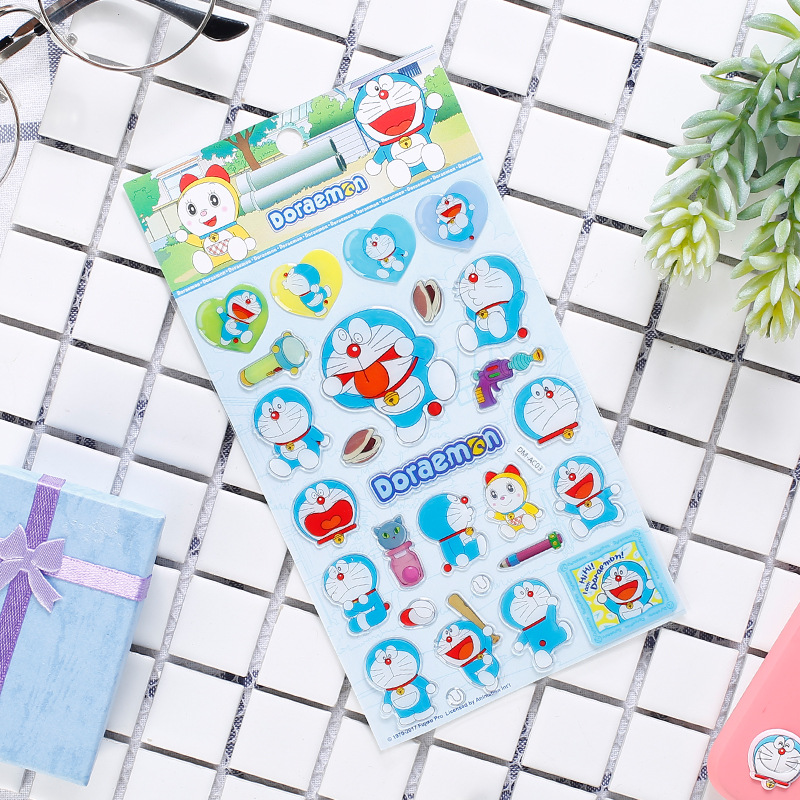 DIY Colorful Doraemon kawaii Stickers Diary Planner Journal Note Diary Paper Scrapbooking Albums PhotoTag