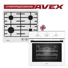 Комплект встраиваемой техники: варочная панель AVEX NS 6040 W и электрическая духовка AVEX SW 6060