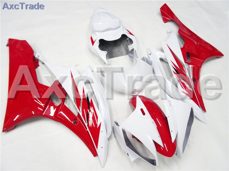 Motorcycle Fairings Kits For Yamaha YZF600 YZF 600 R6 YZF-R6 2006 2007 06 07 ABS Injection Fairing Bodywork Kit Red White A402 fit for yamaha yzf 600 r6 1998 1999 2000 2001 2002 yzf600r abs plastic motorcycle fairing kit bodywork yzfr6 98 02 yzf 600r cb20