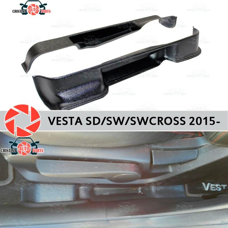 Pour Lada Vesta 2015-coffre de poche sièges boîte de rangement accessoires protection tapis décoration voiture style poche entre les sièges