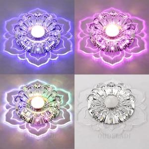 Image 4 - Led Gangpad Lichten Bloem Vormige Crystal Spots Downlighters Ingebed Plafond Creatieve Gang Woonkamer Slaapkamer
