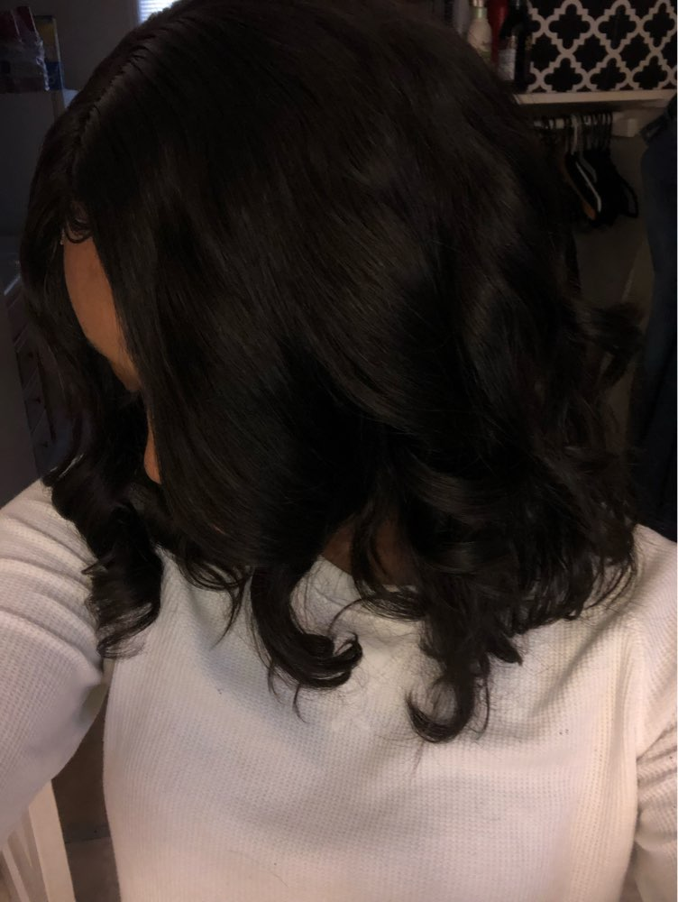 Luffy 13x6 Short Bob Lace Front Wigs Human Hair Natural Wave Indian Non-remy Natural Black Pre Plucked Bleached Knots For Women