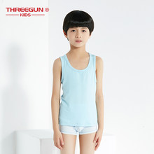 THREEGUN Girls Boys Tank Tops Casual Candy Color Kids Undershirt Modal Children Girl Boy Summer Underwear Camisoles Tank Top(China)