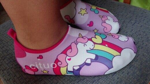 Chinelos Anti-slip Crianças Descalças
