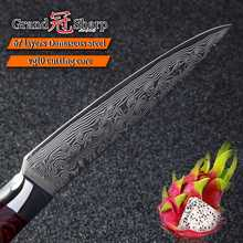 GRANDSHARP 5 Inch Utility Knife 67 Layers Japanese Damascus Stainless Steel VG-10  Cooking Tools Chef Kitchen Knife Damascus