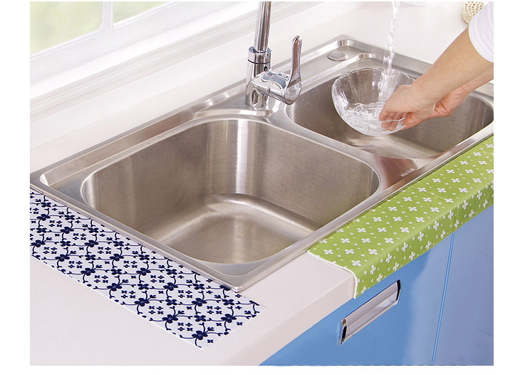 Waterproof Kitchen Sink Mats Toilet Bathroom Wash Gargle