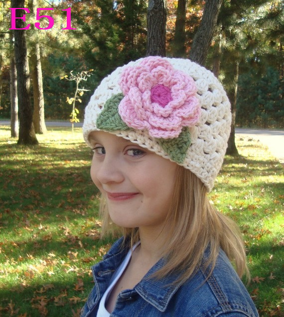 2017 New knitted hat Beanies Baby cap Newborn Hat Baby Lovely flower Handmade Crochet Knitting Cap Cartoon Photography Props