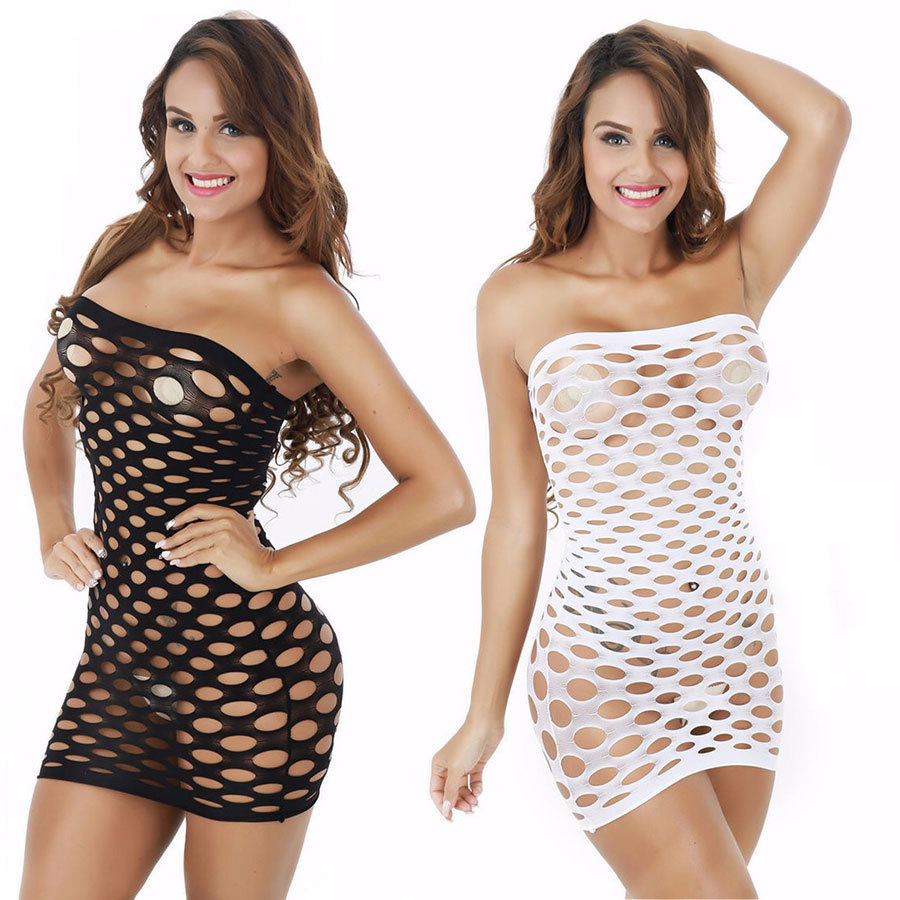 Buy Elasticity Cotton Lenceria Sexy Lingerie Hot Mesh Baby Doll Dress Erotic Lingerie Women Sex Costumes Fishnet Underwear