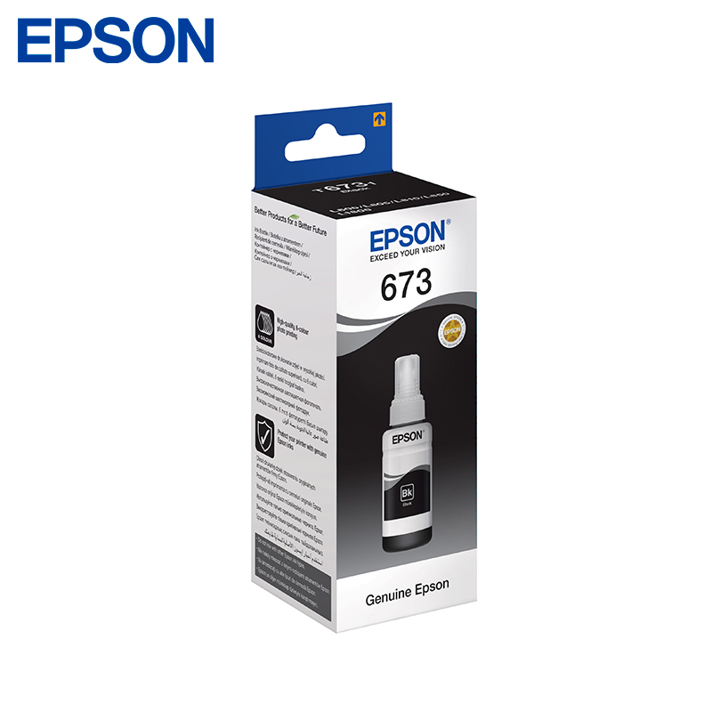 Cartridge Epson Black C13T67314 70ml (for L850/L805/L810/L1800) тонер cactus cs ept6734 для epson l800 l810 l850 l1800 yellow