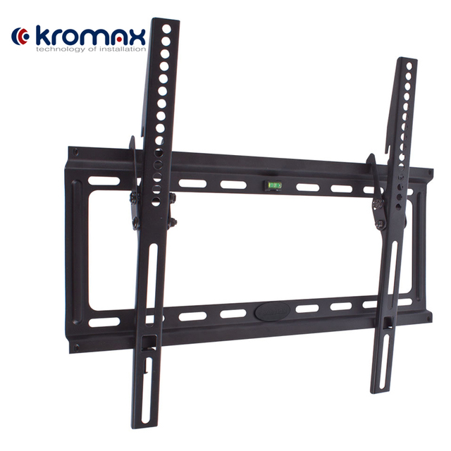 ТВ кронштейн Kromax IDEAL-4 (Наклонный, сталь, диагональ экрана 22-65 дюймов/56-165 см, макс нагрузка 50 кг, наклон 0-10 градусов, расстояние от стены 23 мм)