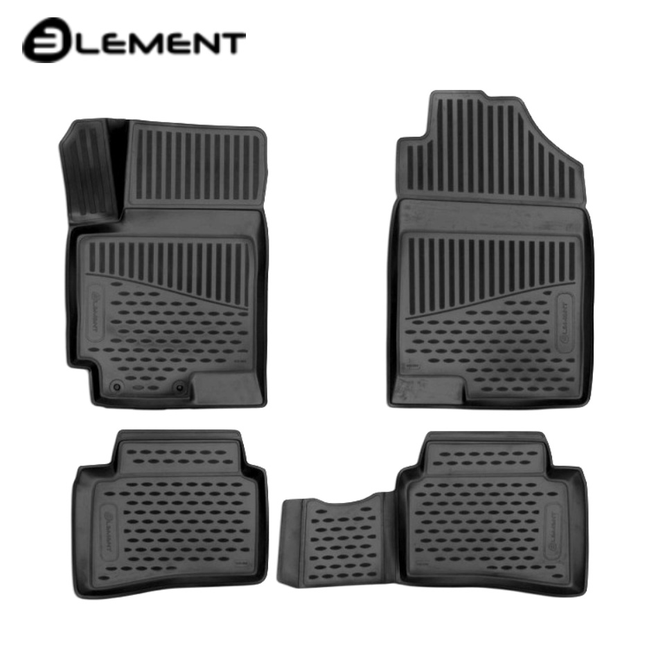 3D floor mats into saloon for Hyundai Solaris 2017-2019 4 pcs/set Element ELEMENT3D2065210 creative removable 3d beach toilet floor sticker