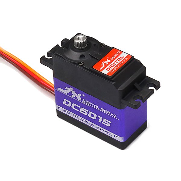 JX Servo DC6015 14.32kg Coreless Metal Gear High Torque Digital Servo For RC Airplane Helicopter jx servo pdi 6115 mg kg 15 large torque torque metal gear steering gear digital hollow cup standards